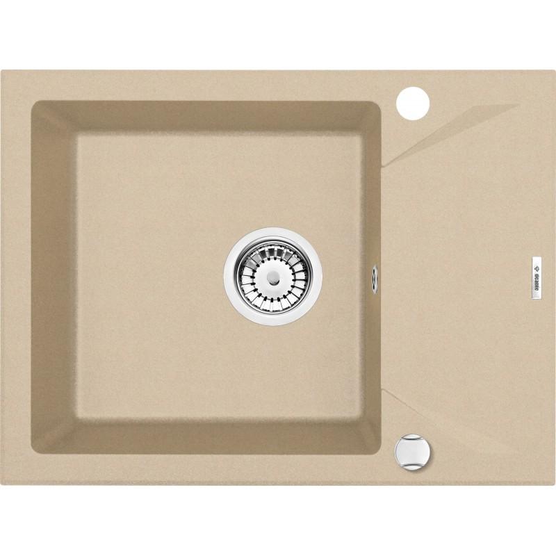 59cm x 44cm 1Becken Spüle mit kurzer Abtropffläche beige Evora Deante GranitGranit -19%