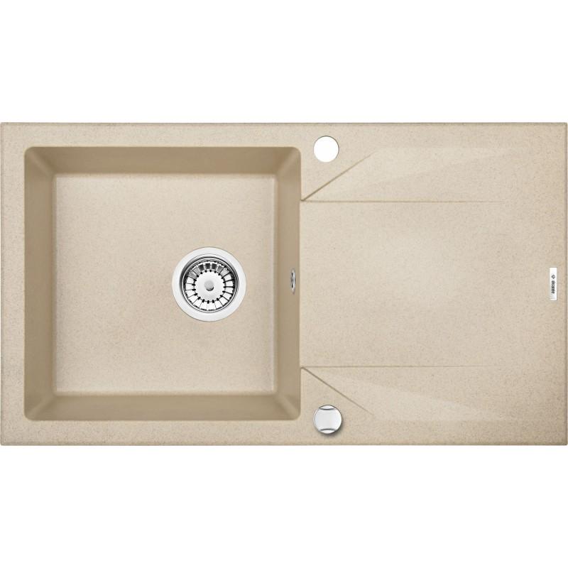 78cm x 44cm 1Becken Spüle mit Abtropffläche beige Evora Deante GranitGranit -19%