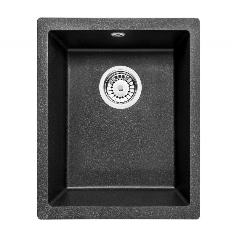 38cm x 46cm Unterbau Spüle grau metallic Corda Deante GranitGranit -19%