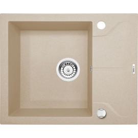 59cm x 49cm 1Becken Spüle mit kurzer Abtropffläche beige Andante Deante GranitGranit -19%