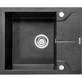 59cm x 49cm 1BeckenSpüle mit kurzer Abtropffläche graphit Andante Deante GranitGranit -19%
