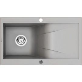 86cm x 50cm 1Becken Spüle mit Abtropffläche grau metallic Rapsodia Deante GranitGranit -19%