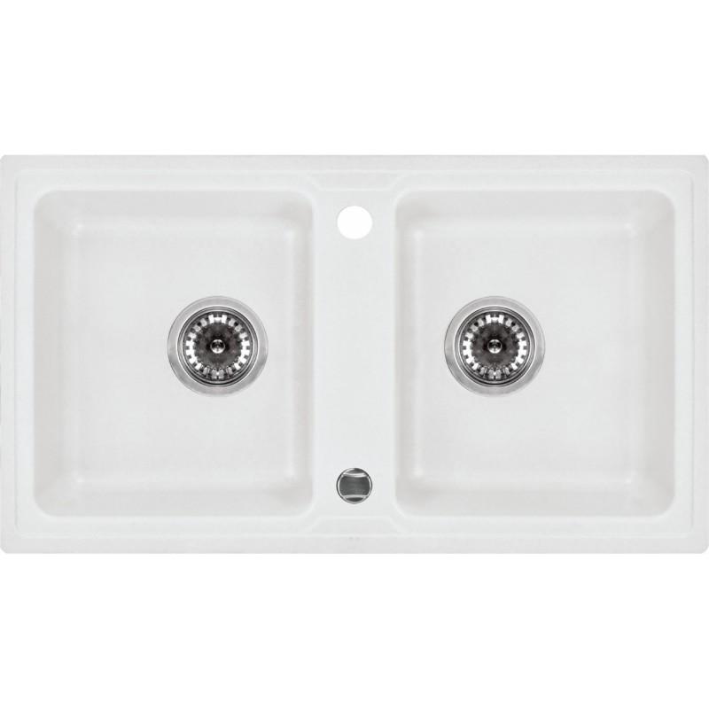 78cm x 43,5cm 2 Becken Spüle alabaster Zorba Deante GranitGranit -19%