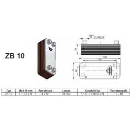 16-40 Platten ZB10 gelötete Plattenwärmetauscher Zilmet Zilmet Heizung