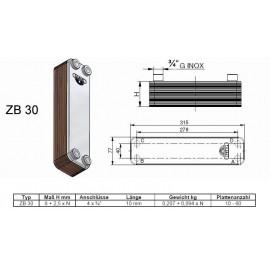 10-60 Platten ZB30 gelötete Plattenwärmetauscher Zilmet Zilmet Heizung