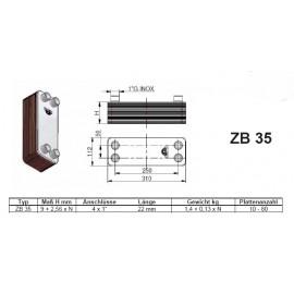 10-80 Platten ZB35 gelötete Plattenwärmetauscher Zilmet Zilmet Heizung