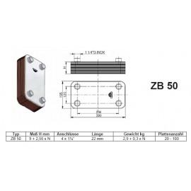 20-100 Platten ZB50 gelötete Plattenwärmetauscher Zilmet Zilmet Heizung