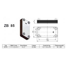 30- 200 Platten ZB-85 gelötete Plattenwärmetauscher mit Standkonsole und HebeösenZilmet Zilmet HeizungHeizung
