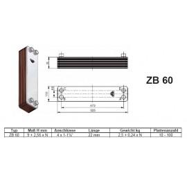 ZB-W60 24- 60 Platten gelötete Plattenwärmetauscher mit Dämmung Zilmet Zilmet HeizungHeizung
