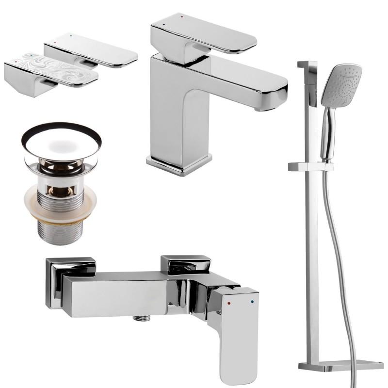 Badezimmer Duschset 4 in1, Serie: Azalia