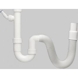 """Röhrensiphon 11/2"""" mit flexiblem Schlauch und Geräteanschluss Haas Siphon und ZubehörSiphon und Zubehör"""