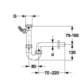 """11/4"""" Röhrensiphon mit einem Geräteanschluss Haas Siphon und ZubehörSiphon und Zubehör"""
