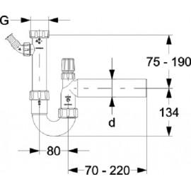 """11/2"""" DN40 Siphon mit Geräteanschluss und Rohrbelüfter für die Küche Haas Siphon und ZubehörSiphon und Zubehör"""