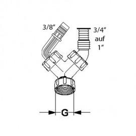 """Winkelschlauchtülle Ø 9-14mm, 3/8""""x1""""für Kondensatanschluss Haas Siphon und Zubehör"""