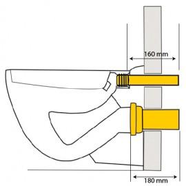 90/110,180mm lang, Wand-WC-Anschlussgarnitur Haas Sanitär