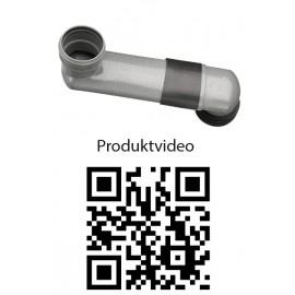OHA-WC-Versprungbogen waagerecht DN 90/110 Haas Rohr-Anschlusstechnik für WC und ZubehörRohr-Anschlusstechnik für WC und Zube...