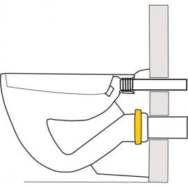 Stülpdichtung für Wand-WC-Anschlussstutzen Haas Sanitär