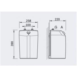 5l Bosch Untertisch- Kleinspeicher Boiler Tronic TR 1500 TOR 5T drucklos Bosch Warmwasser-aufbereitung