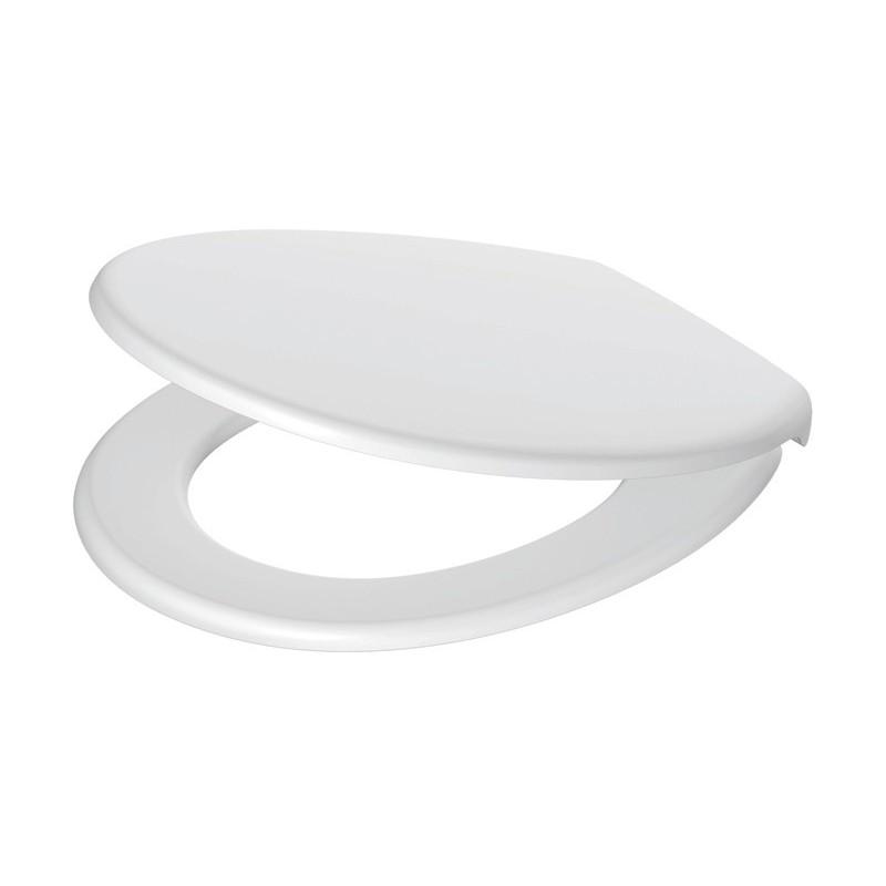 WC-Sitz Sanibel weiß mit Edelstahlscharniere Sanibel BadkeramikBadkeramik -35%