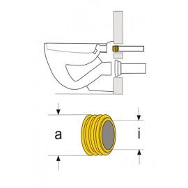 WC Spülrohrinnenverbinder Dichtung DN 44 x 55mm Haas Spülkasten und Zubehör