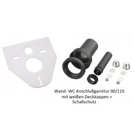 Wand-WC Anschlußgarnitur 90/110mm mit Schallschutz Haas Rohr-Anschlusstechnik für WC und Zubehör