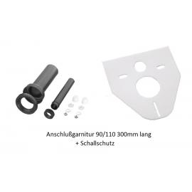 Wand- WC Anschlußgarnitur 90/180mm 300mm Lang mit Schallschutz Haas Schallschutz/Abdichtungen