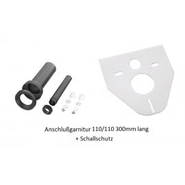 Wand-WC Anschlußgarnitur 110/110mm 300mmLang mit Schallschutz Haas Rohr-Anschlusstechnik für WC und ZubehörRohr-Anschlusstech...