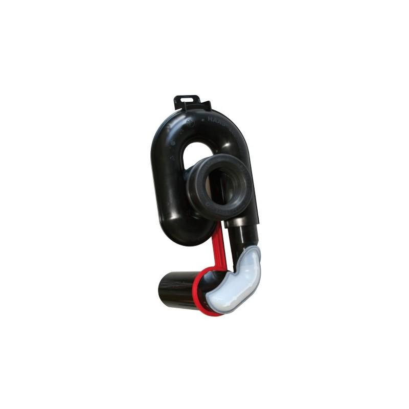 Urinalabsaugesiphon, höhenverstellbar um 65 mm, DN 50, waagerecht Haas Rohr-Anschlusstechnik für Urinale und ZubehörRohr-Ansc...