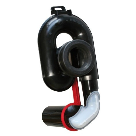 Haas Urinal-Absaug-Siphon für waagerechten Ablauf 50 mm Haas