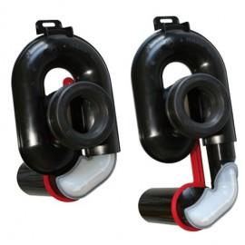Urinalabsaugesiphon, höhenverstellbar um 65 mm, DN 50, waagerecht Haas Rohr-Anschlusstechnik für Urinale und Zubehör