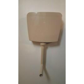 Euro WC Aufputz Spülkasten in bahamabeige 2 Mengen Spülung mit Zubehör Oli Spülkasten und Zubehör
