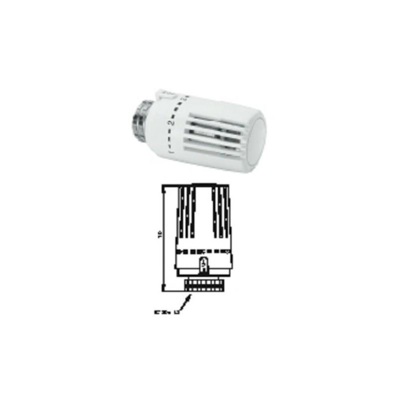 Thermostatkopf für Heizkörper M30x1,5,weiß, kompatibel zu Heimeier,Oventrop HG-TEC Thermostatkopf