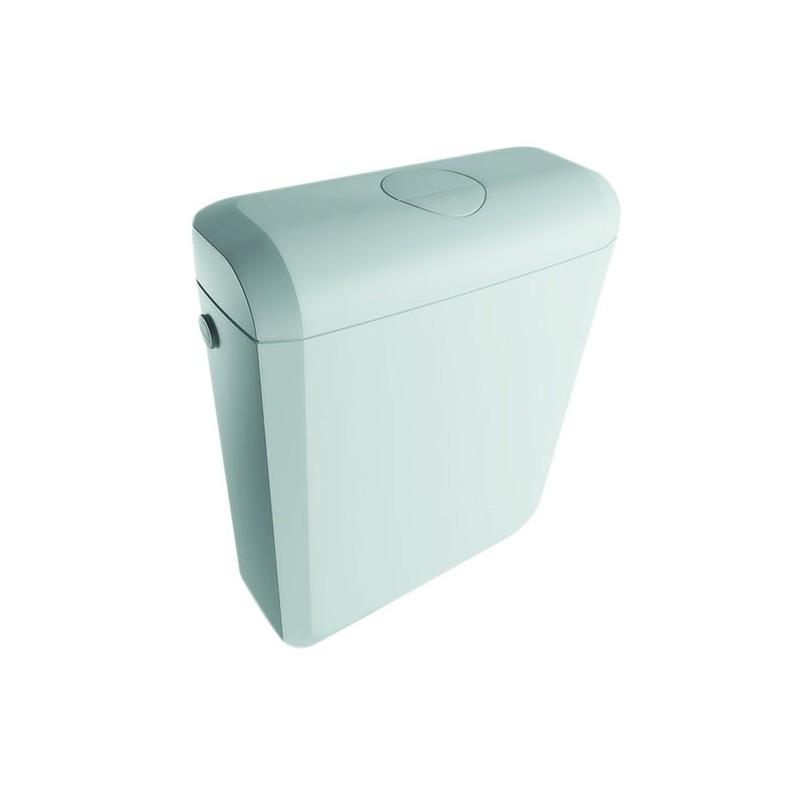 Onix Plus Aufputz- Aufsatzspülkasten breit 340mm hoch 415mm Tief 137mm, Zweimengenspülung 6/3l Oli Spülkasten und ZubehörSpül...