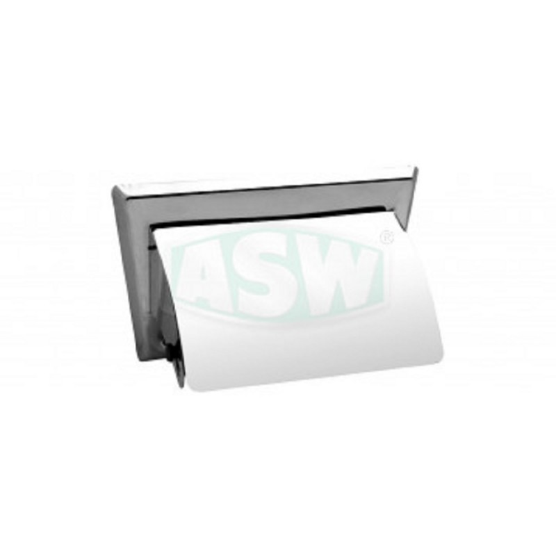 Toiletten-Papierhalter Edelstahl poliert Serie: 1000 ASW Toiletten- Papierhalter + BürstenToiletten- Papierhalter + Bürsten -10%
