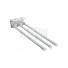 3 tlg. Unterbau Handtuchhalter FE weiß RAL 9010 ausziehbar ASW Hand + Badetuchhalter + HakenHand + Badetuchhalter + Haken -10%