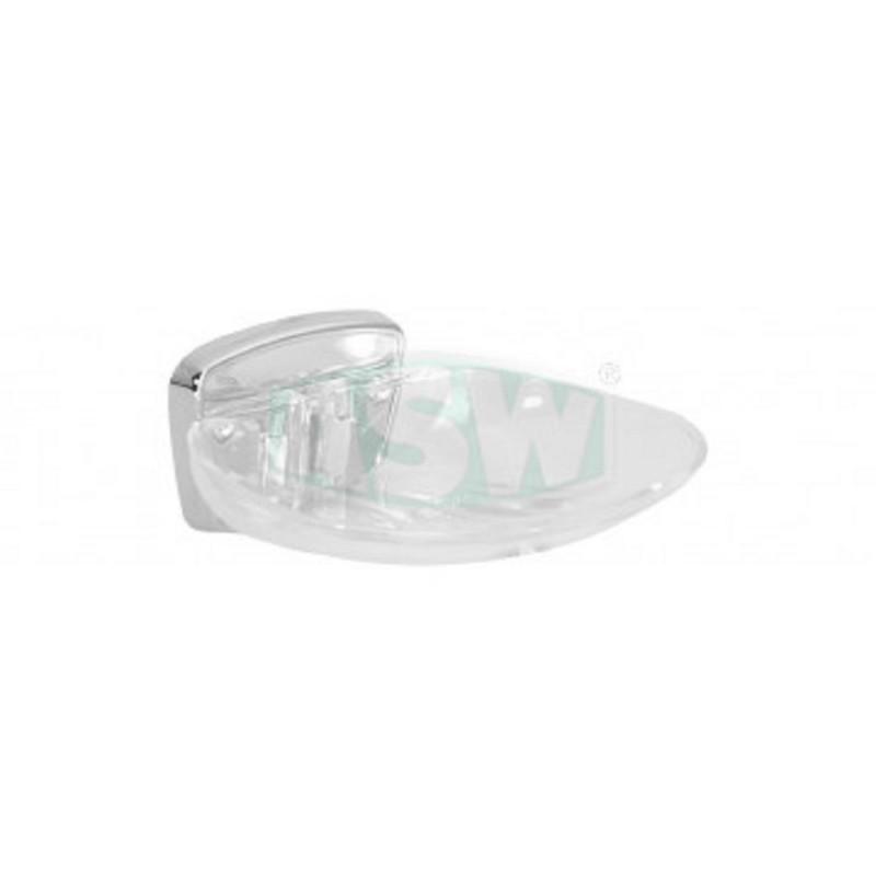 Seifenschale Messing verchromt, Schale Kunststoff transparent Serie: 1000 ASW Seifenschale + GlashalterSeifenschale + Glashal...
