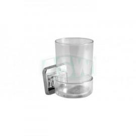 Glashalter ABS verchromt, Kunststoff klar Serie: 1000 ASW Seifenschale + Glashalter