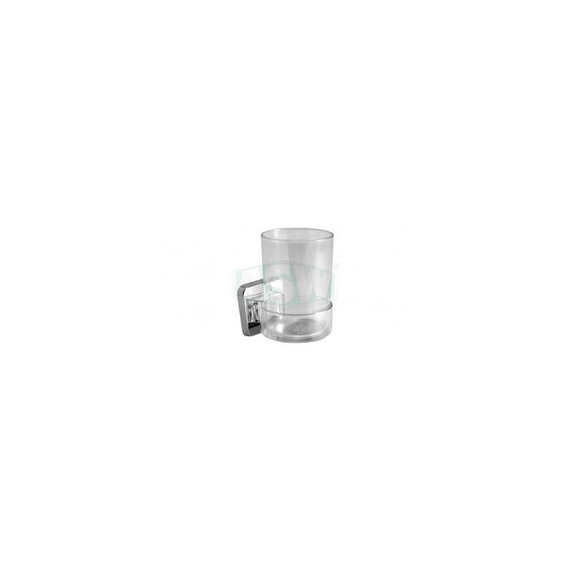 Glashalter ABS verchromt, Kunststoff klar Serie: 1000 ASW Seifenschale + GlashalterSeifenschale + Glashalter -10%