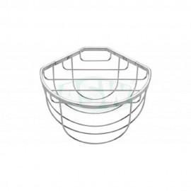 Eck- Gästehandtuchkorb Messing verchromt halbrund 260 x230 x 180mm ASW Körbe MessingKörbe Messing -10%