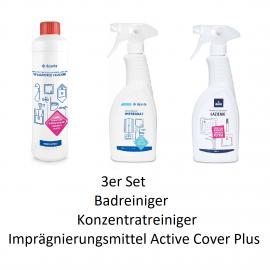 500ml Konzentrat für Bad und Küche + 500ml Badreiniger+ 500ml Imprägniermittel Aktive Cover Plus Deante PutzmittelPutzmittel ...