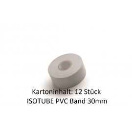 ISOTUBE PVC Band 30mm x 25m hellgrau 12 Stück für Rohrisolierung PU NMC Deutschland Zubehör ISOTUBE 035/040Zubehör ISOTUBE 03...