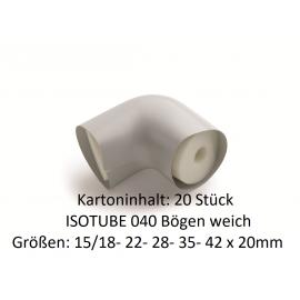 ISOTUBE 040 Bögen weich von 15/18 bis 42 x 20mm kartoninhalt 20 Stück NMC Deutschland ISOTUBE Bögen 035/040ISOTUBE Bögen 035/...