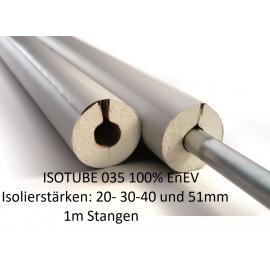 Isotube 35 1m Stangen 100% EnEV Rohrisolierung aus PU mit Kunststoffummantelung und Klebeverschluß NMC Deutschland ISOTUBE 03...