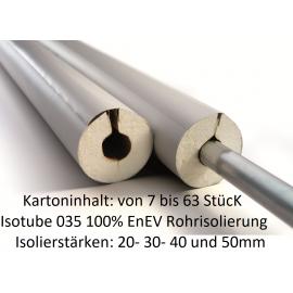 IsoTube 035 100% EnEV 1m Stangen (Karton) Rohrisolierung PU Schaum mit PVC Ummantelung NMC Deutschland ISOTUBE 035 / 040 ISOT...