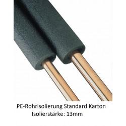 PE-Rohrisolierung 13mm Isolierstärke 1m Stangen Karton verschiedene Größen NMC Deutschland PE Rohrisolierung standardPE Rohri...