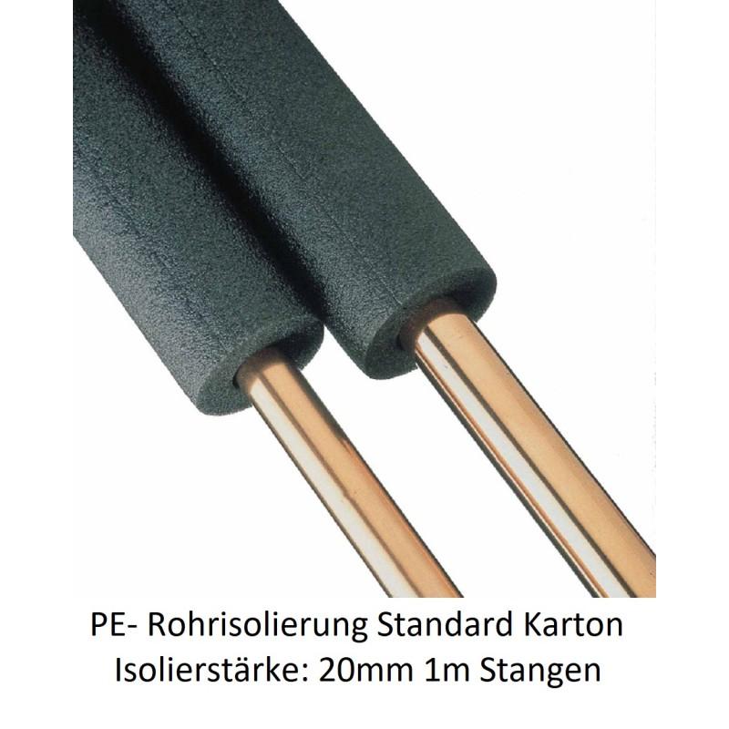 PE-Rohrisolierung 20mm Isolierstärke 1m Stangen Karton verschiedene Größen NMC Deutschland Isolierung und ZubehörIsolierung u...