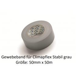Climaflextapes Gewebeband grau 50mm x 50m Stabil Abfluss grau NMC Deutschland Zubehör Climaflex Stabil Abfluss + Schutzschlau...