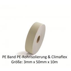 PE-Band 3mm x 50mm x 10m für PE-Rohrisolierung und Climaflex NMC Deutschland Zubehör PE Rohrisolierung + ClimaflexZubehör PE ...