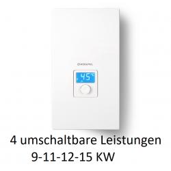 KDE5- 9/11/12/15 KW einstellbar electronic LCD Durchlauferhitzer mit elektronischer Steuerung und LCD Display Kospel Durchlau...