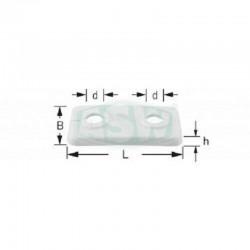 Rosette für Heizungsrohre Doppelrosette 15mm weiß Kunststoff ASW RosettenRosetten -10%